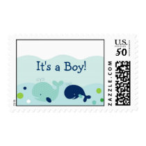 Little Whale Nautical Custom Postage Stamps