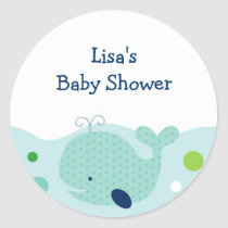 Little Whale Nautical Envelope Seals Stickers