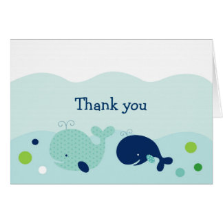 Little Whale Nautical Thank You Note Cards