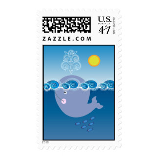 Little Whale Postage Stamps