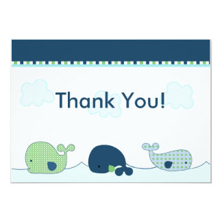 Little Whales Baby Shower Thank You Card