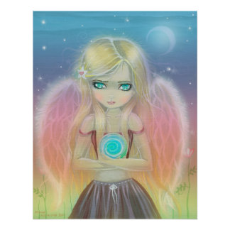 Little Whirlwind Angel Poster Print