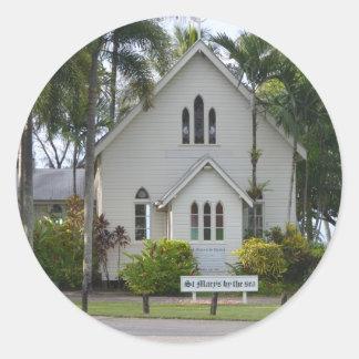 Little white chapel classic round sticker