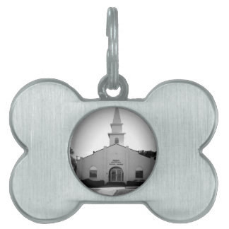 Little White Church Pet Tag