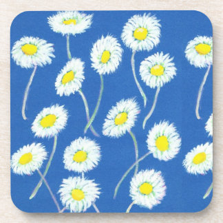 Little White Daisies Set of Cork-backed Table Mats Beverage Coaster