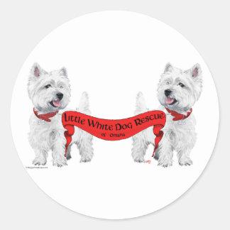 Little White Dog Rescue Stickers
