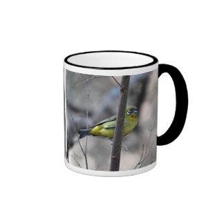 Little white+eye bird on a Twig Mug