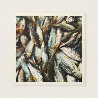 Little White Fish Paper Napkin