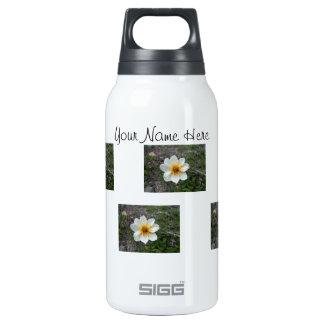 Little White Flower; Customizable Thermos Bottle