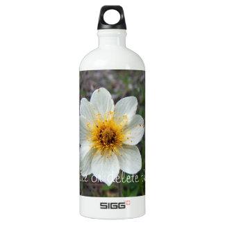 Little White Flower; Customizable Water Bottle