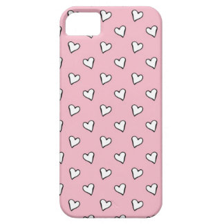 Little White Hearts on PInk iPhone SE/5/5s Case