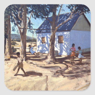 Little white house Karoo South Africa Square Sticker