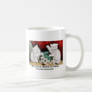 Little White Kittens Playing Dominoes Mugs