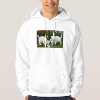 little white kitties getting into mischief milk hoodies