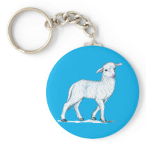 Little White Lamb Keychain