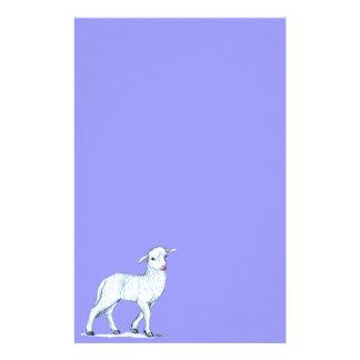 Little White Lamb Custom Stationery