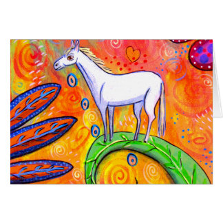 Little White Magic Horse Greeting Card