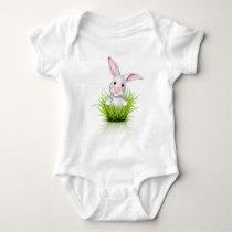 Little white rabbit baby bodysuit
