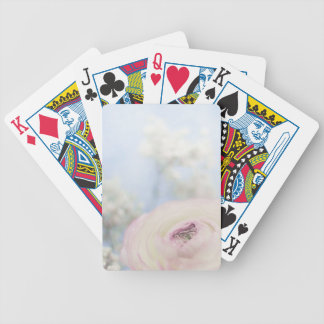 LITTLE WHITE ROSE BICYCLE PLAYING CARDS