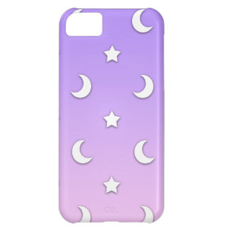 Little White Stars and Moons Pattern iPhone 5C Cover