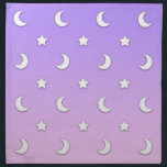 "Little White Stars and Moons Pattern Napkin<br><div class=""desc"">A cute celestial pattern I created.</div>"