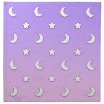 Little White Stars and Moons Pattern Napkin