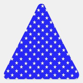 Little White Stars Triangle Sticker
