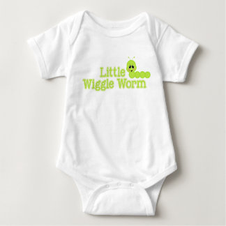 Little Wiggle Worm Bright Spring Green Inchworm Baby Bodysuit