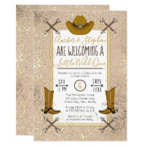 Little Wild One Rustic Western Arrows Baby Shower Invitation