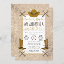 Little Wild One Rustic Western Arrows Baby Shower Invitation