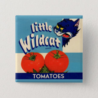 Little Wildcat tomatoes crate label Button