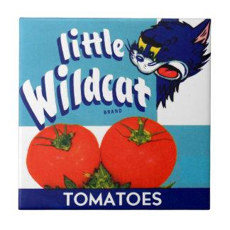 Little Wildcat tomatoes crate label Ceramic Tile