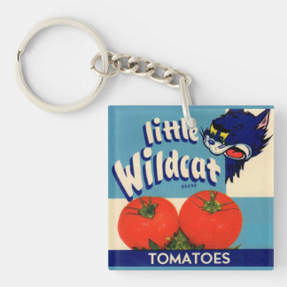 Little Wildcat tomatoes crate label Keychain