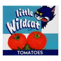 Little Wildcat tomatoes crate label Poster