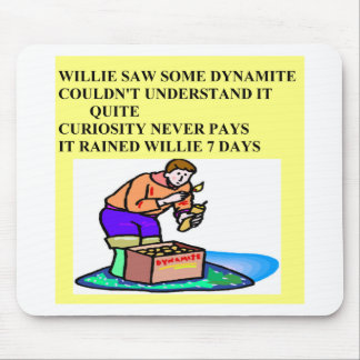 little willie rhyme mouse pad