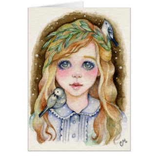 Little Willow - Whimsical Girl Art Card