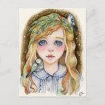 Little Willow - Whimsical Girl Art Postcard