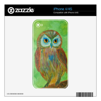 Little Wise Owl iPhone 4 Skins