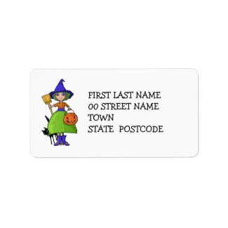 Little Witch Address Label label