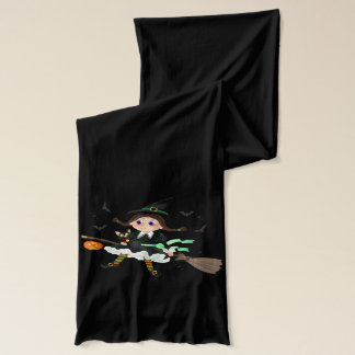 Little witch black cat scarf