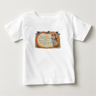 Little Witch & Cat (Vintage Halloween Card) Baby T-Shirt