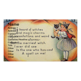 Little Witch & Cat (Vintage Halloween Card) Business Card