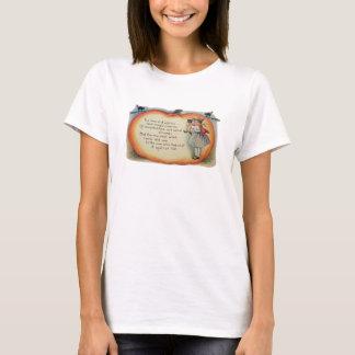 Little Witch & Cat (Vintage Halloween Card) T-Shirt