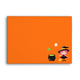 Little Witch, Cauldron & Broomstick Envelope