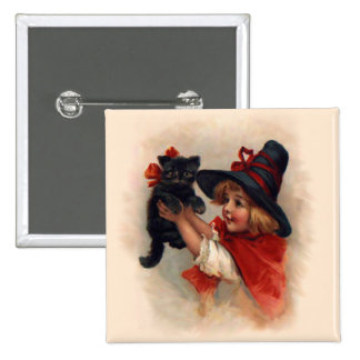 Little Witch Girl 2 Inch Square Button