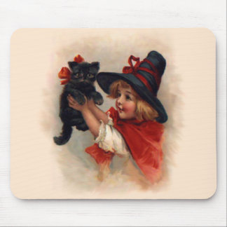 Little Witch Girl Mouse Mat