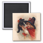 Little Witch Girl Refrigerator Magnet