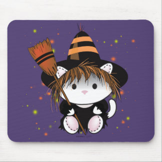 LITTLE WITCH HALLOWEEN CARTOON MOUSE PAD