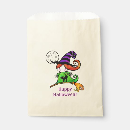 Little Witch Halloween Favor Treat Bags