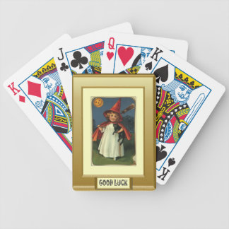Little witch, Halloween gift Bicycle Playing Cards